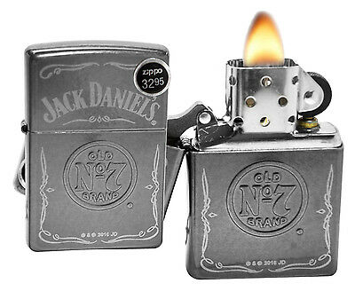 Zippo 29150 Jack Daniel's Old No 7 Brand Gray Dusk Finish Windproof Lighter New
