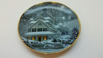 Franklin Mint Winter Home Porcelain Collector Plate By Macwilliams] (St5014968)