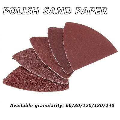 10/20/50x Delta Sanding Discs Sheets Triangles Pads 60-240 Grits Sandpaper Mouse