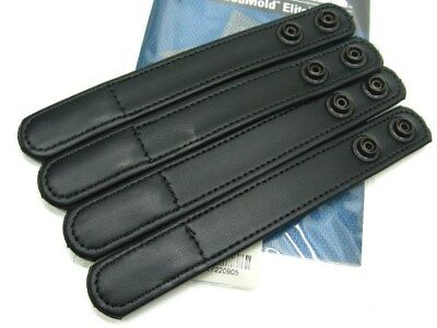 "BIANCHI Black 7906 Hidden Snap ACCUMOLD ELITE 1"" Belt Keeper Pack of 4! 22090"