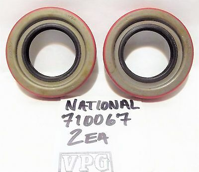 2 each National 710067 wheel OIL SEAL Made in USA No Box