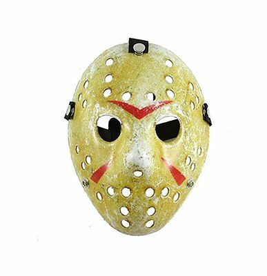 Deluxe Hockey Horror Mask ~ Jason Voorhees Style ~ Halloween Friday 13th NEW