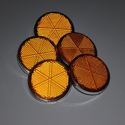 5 Pcs 2'' Motorcycle Truck Caravan Trailer Gate Post Round Reflective Reflector