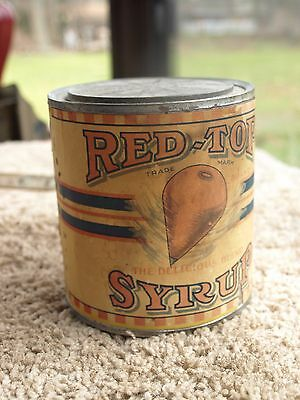 Vintage Red Top Syrup Can 1920's Grocery General Store