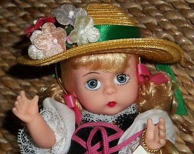 "Madame Alexander Doll ""Heidi"" 8 inch with tag and stand 75th Anniversary"