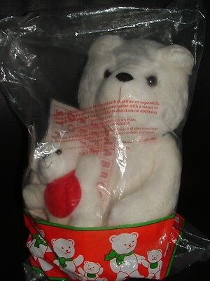 NEW Vintage Avon BEARING BUNDLE BEARS Iron On Letters White  Stuffed Bears 1988