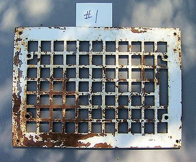 "Vintage CAST IRON Wall  Floor Register Grate Vent 13-3/4"" x 9-3/4""  *********#1"