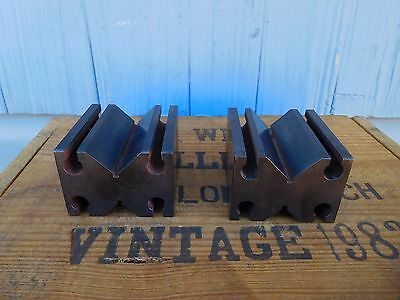 2  V-BLOCKS 2-3/4'' x 2-1/2'' x 1-3/4'' machinist tool grinding milling Nice Set
