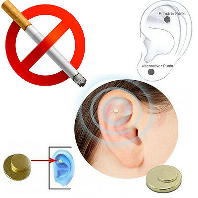 Healty Quit Smoking Magnet Cigarettes Magnetic Ear Studs Acupressure Zero Smoke