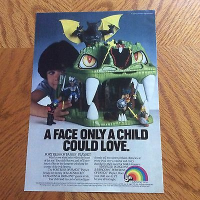 1983 Ljn Fortress Of Fangs Playset Print Ad - A Face Only A Child Could Love
