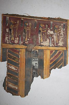 ANCIENT EGYPTIAN LINEN LATE DYNASTIC 30th DYN 380 BC SONS OF HORUS HIEROGLYPHICS