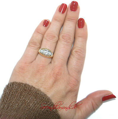 Jugendstil Antikschmuck Goldring 585 mit Diamanten Diamonds Unikat