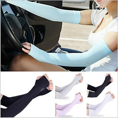 1 Pair Arm Sleeves Motorcycle UV Cover Sun Protection Cooling Basketball Sports