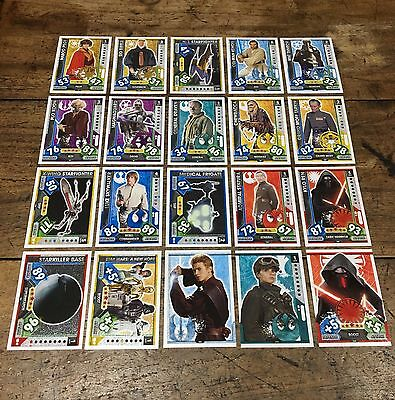 Star Wars - Force Attax 2017 (TOPPS collector cards) 20 x Cards Mixed Lot #13.