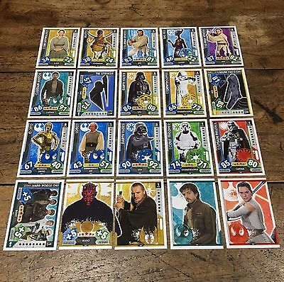 Star Wars - Force Attax 2017 (TOPPS collector cards) 20 x Cards Mixed Lot #18.