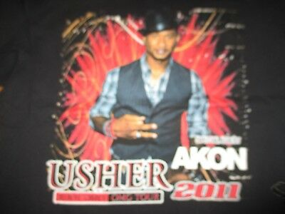 2011 USHER in OMG with Special Guest AKON Concert Tour (LG) T-Shirt
