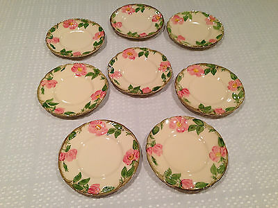 "Vintage Set of 8 FRANCISCAN ""Desert Rose"" Pattern 6.25"" BREAD BUTTER SIDE PLATES"
