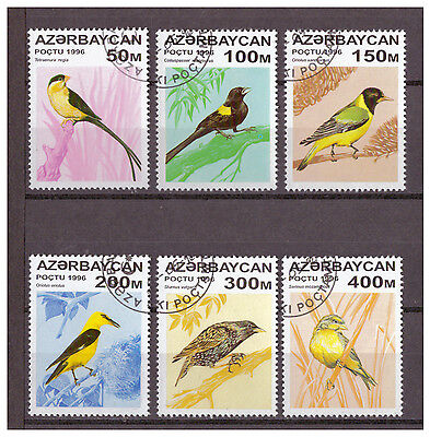 Aserbaidschan, Vögel | Birds MiNr. 313 - 318, 1996 used