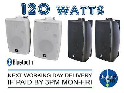"""120W 4.0 Bluetooth 9"""" Active Speaker System Stereo Wall Mounted inc Built In Amp"""