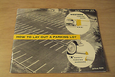 """RARE 1961 ADVERTISING Booklet~Western Industries~""""HOW to LAY OUT a PARKING LOT""""~"""