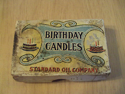 UNUSED Vtg ca 1930's 'BIRTHDAY CANDLES'~Standard OIL Company~Full BOX~