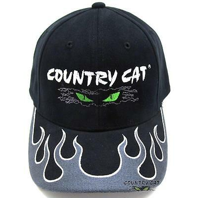 Country Cat Magic Fire Brim Hat Cap 100% Cotton - Charcoal Flame - CCMAGIC FIRE