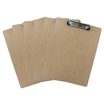 Thornton's Hardboard Low Profile Letter Size 9 x 12 in Clipboard - Pack of 6