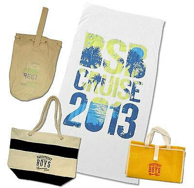 Backstreet Boys - 20Th Anniversary Cruise Beach Gear 4 Pc Gift Set New