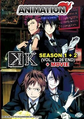 K The Animation Box Set | S1+S2+Movie | 01-26+ | Subs | 3 DVDs (VS0189)