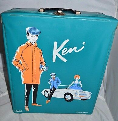 VTG 1960 Ken with Clothing Accessories Case A Must See Case Dated 1962