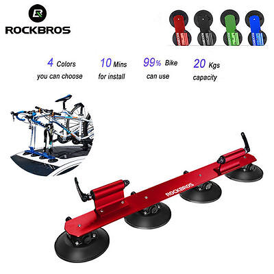 RockBros Bike Car Roof Rack Suction Rooftop Carrier Quick Installation Two-bikes