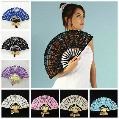 Chinese Spanish Style Lace Folding Hand Held Dance Fan Party Fan Hot Sell Nice