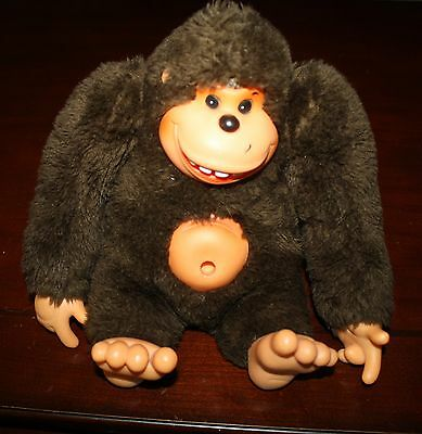 "HTF Vintage Russ Globg Brown Gorilla Belly Button Thumb Plush Stuffed 8"" Ape"