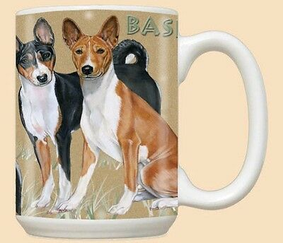 15 oz. Ceramic Mug (PS) - Basenji Pair MU596