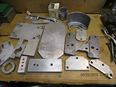large lot of heavy machined aluminum parts no clue what they're for