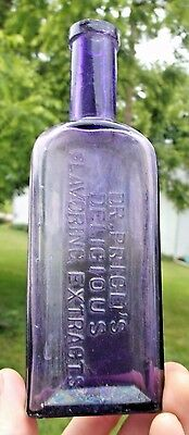 Nice Purple Dr.price's Delicious Flavoring Extract Bottle 1890's Era Dug L@@k