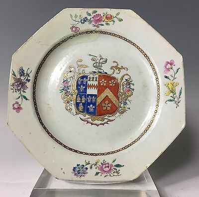 Antique (1750) Century Chinese Export Armorial Plate