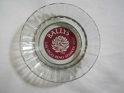 VINTAGE Glass Ashtray - Bally's Casino - Las Vegas Reno Atlantic City