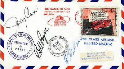 Skylab Mission-3 Crew - Special Cover Signed 11/16/1973 With Co-Signers