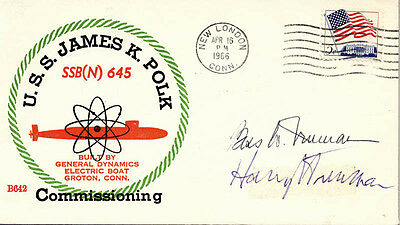 Harry S Truman - Commemorative Cover Signed Co-Signed By: Bess W. Truman