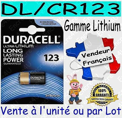 Piles DL123 CR123 DURACELL PHOTO Vente aussi CR2032 CR2025 CR2016 CR2430 CR2450