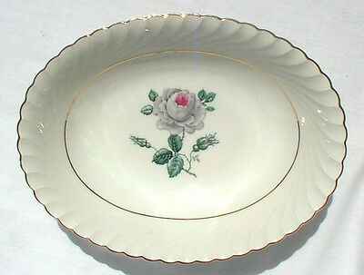 ROYAL BAYREUTH CARMEN SERVING BOWL US ZONE GERMANY 1764 Rose Gray White WWII