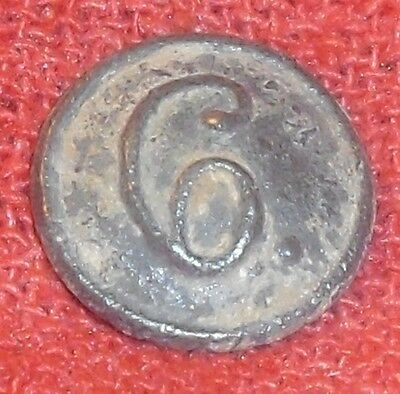 Napoleonic Era Spanish 6 Division Military Uniform Button