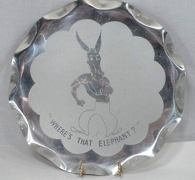 1950s Democrat Donkey Where's that Elephant Political Election Campaign Tray