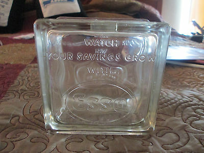 """Vintage """"Watch Your Savings Grow"""" With ESSO Glass Bank"""