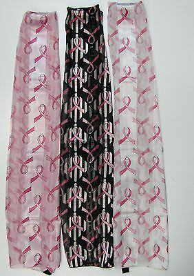 Wholesale Scarf Lot 6 PCS Pink Ribbon Breast Cancer Awareness Print Scarves NEW