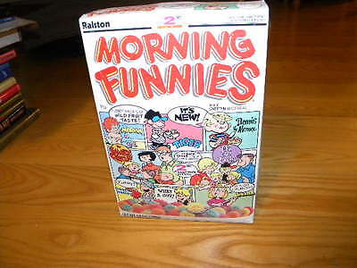 1988 Ralston Purina Morning Funnies Full Cereal Box Dennis the Menace & More #2