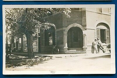 Whiting Kansas Post Office old real photo postcard RPPC