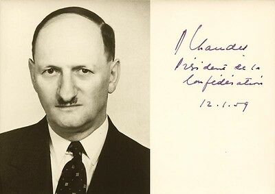Paul Chaudent - Picture Post Card Signed 12/01/1959