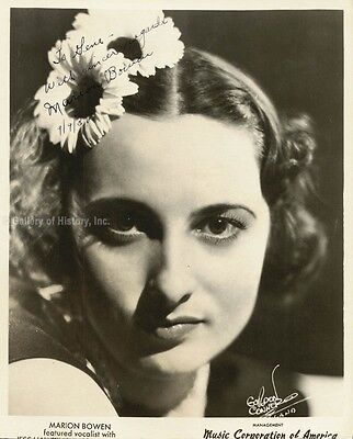 Marion Bowen - Inscribed Printed Photograph Signed In Ink 09/09/1939
